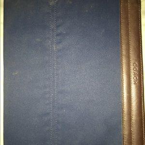Coach iPad cover.